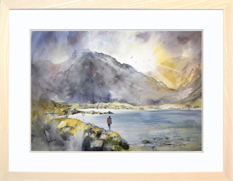 Framed Painting Sundown On The Summit