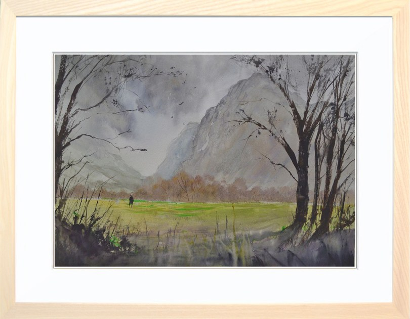 Framed Painting Windy Day In Buttermere II