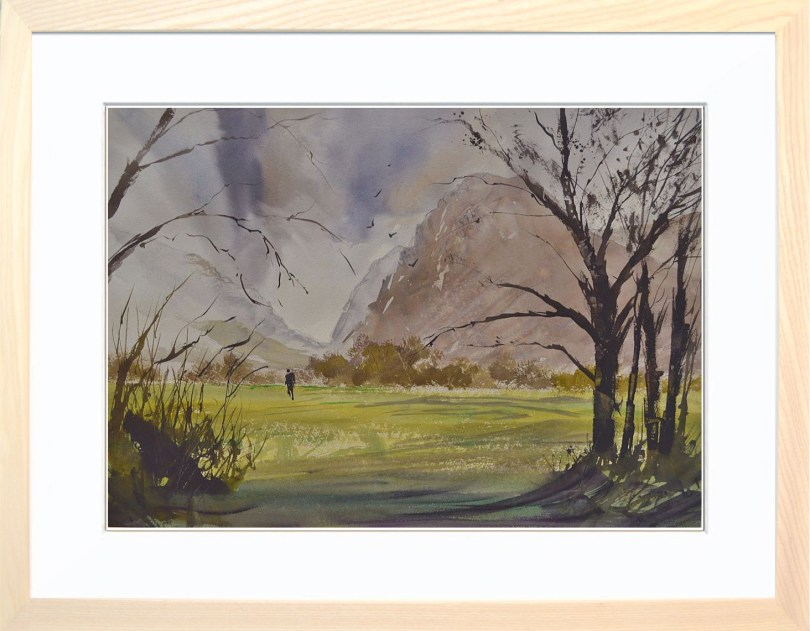 Framed Painting Windy Day In Buttermere III