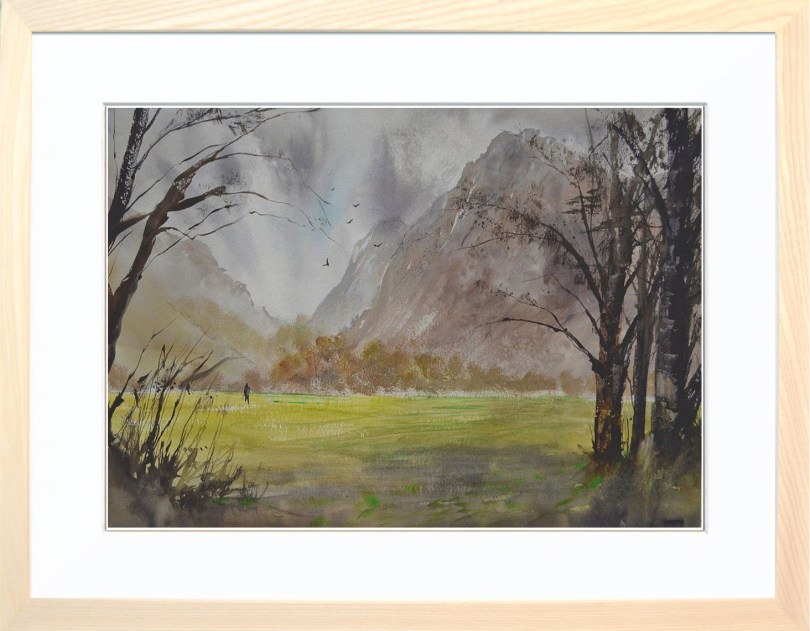 Framed Painting Windy Day In Buttermere VI
