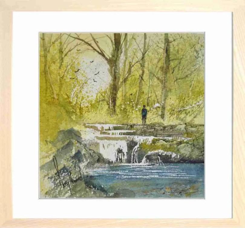 Framed Painting Woodland Stream I