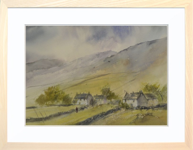 Framed Painting Yorkshire Cottages