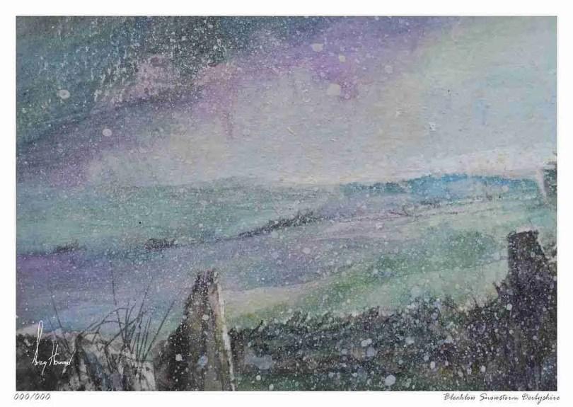 Limited Edition Print Bleaklow Snowstorm Derbyshire