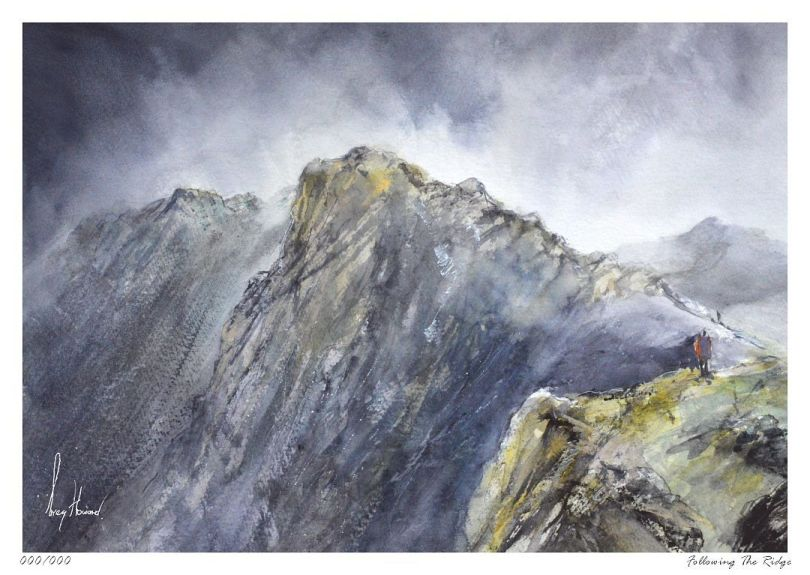 Limited Edition Print Following The Ridge