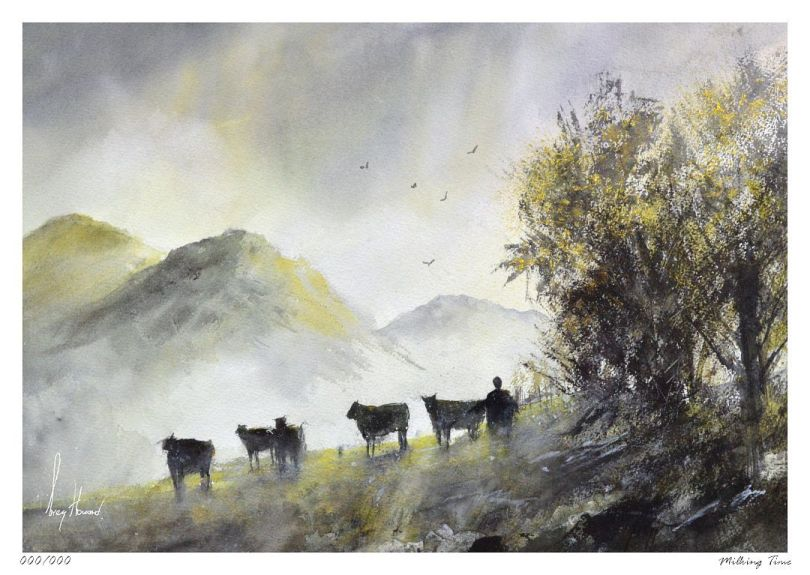 Limited Edition Print Milking Time