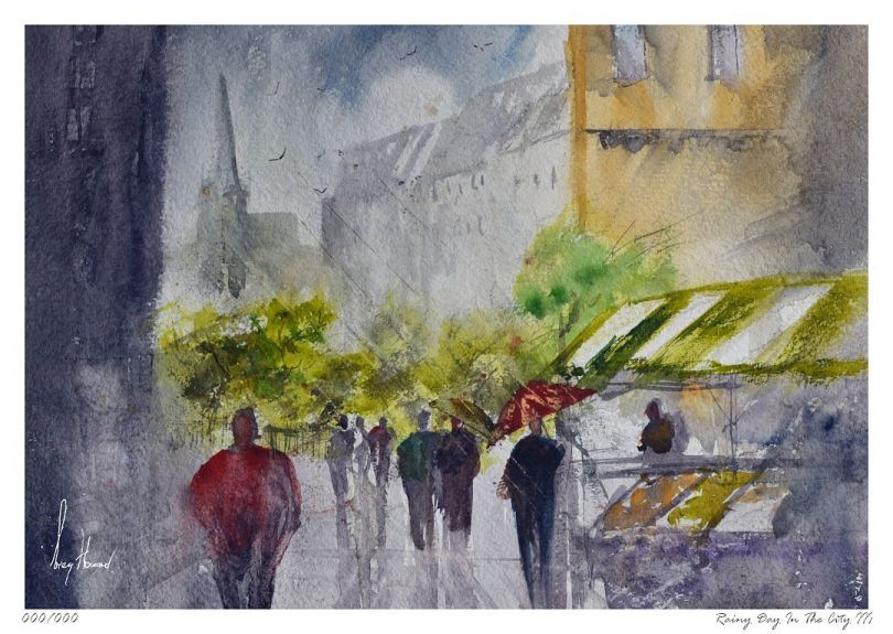 Limited Edition Print Rainy Day In The City III