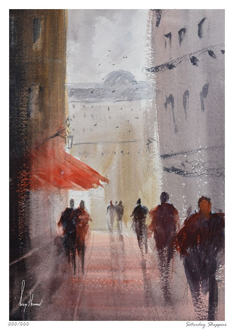 Limited Edition Print Saturday Shoppers
