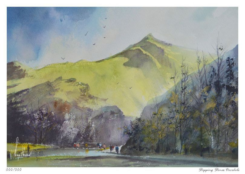 Limited Edition Print Stepping Stones Dovedale