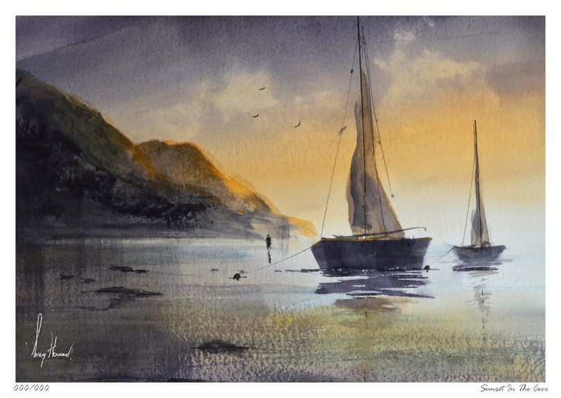 Limited Edition Print Sunset In The Cove