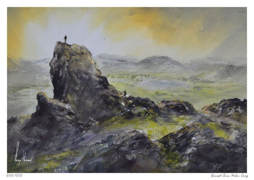 Limited Edition Print Sunset Over Helm Crag