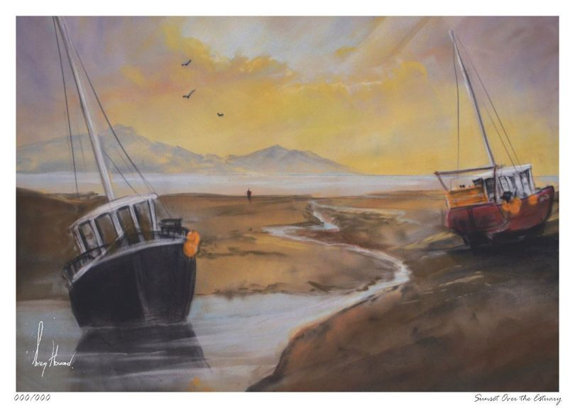 Limited Edition Print Sunset Over The Estuary