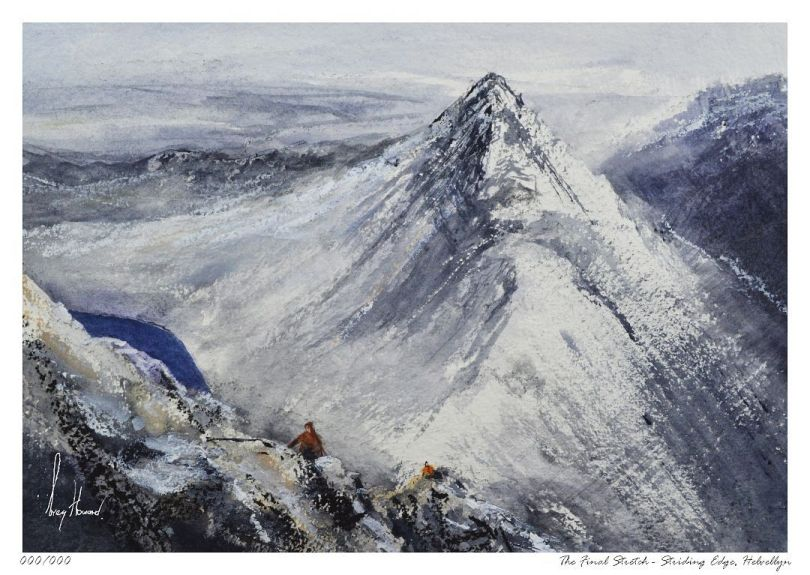 Limited Edition Print The Final Stretch Striding Edge, Helvellyn