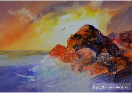 Ocean Sunset II