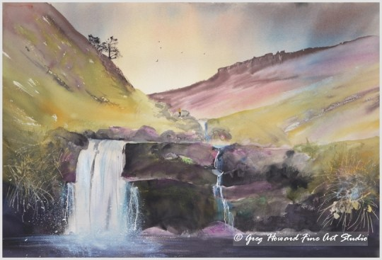 Waterfall In Edale