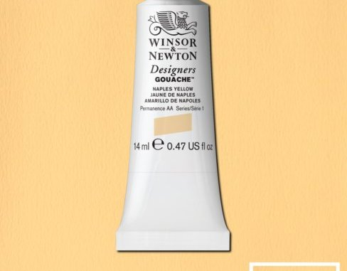 Winsor Newton Gouache Naples Yellow
