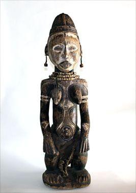 Idoma Seated Female Figure, Africa Origin: Nigeria Circa: 19 th Century AD to 20th Century AD