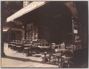 Working Title/Artist: Cafe, Avenue de la Grande-Armee Department: Photographs Culture/Period/Location: HB/TOA Date Code: Working Date: 1924-25 mma digital photo #PH9138