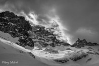Glacier du Clos des Cavales et le col de la Grande Ruine