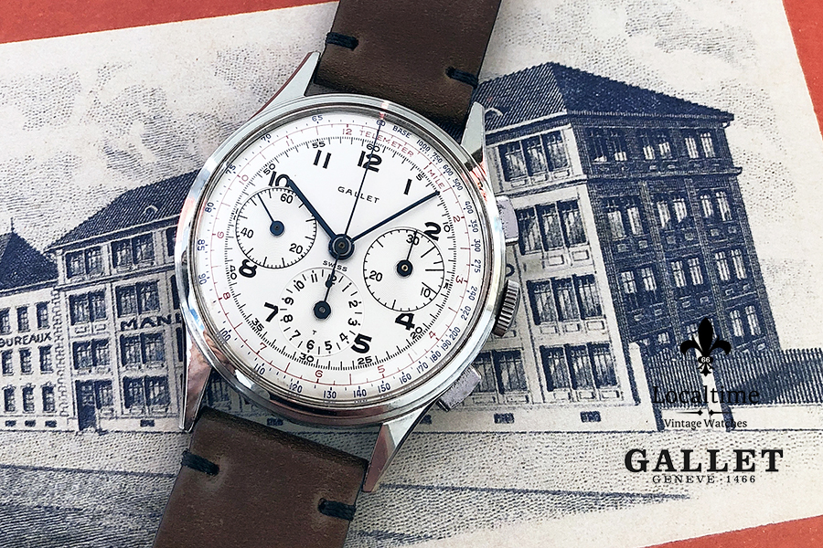Gallet (Swiss) Vintage M12 Multichron Chronograph Watch – EP Cal. 40-68