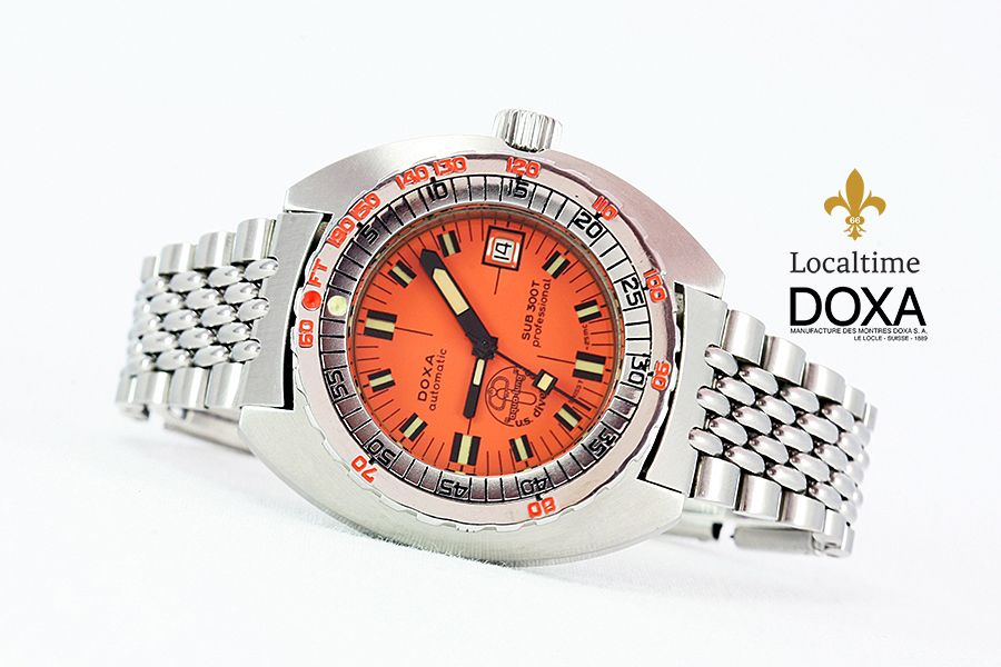 "Early DOXA [Swiss] SUB 300T ""Professional"" Aqualung Diver Watch – ETA Cal. 2472"