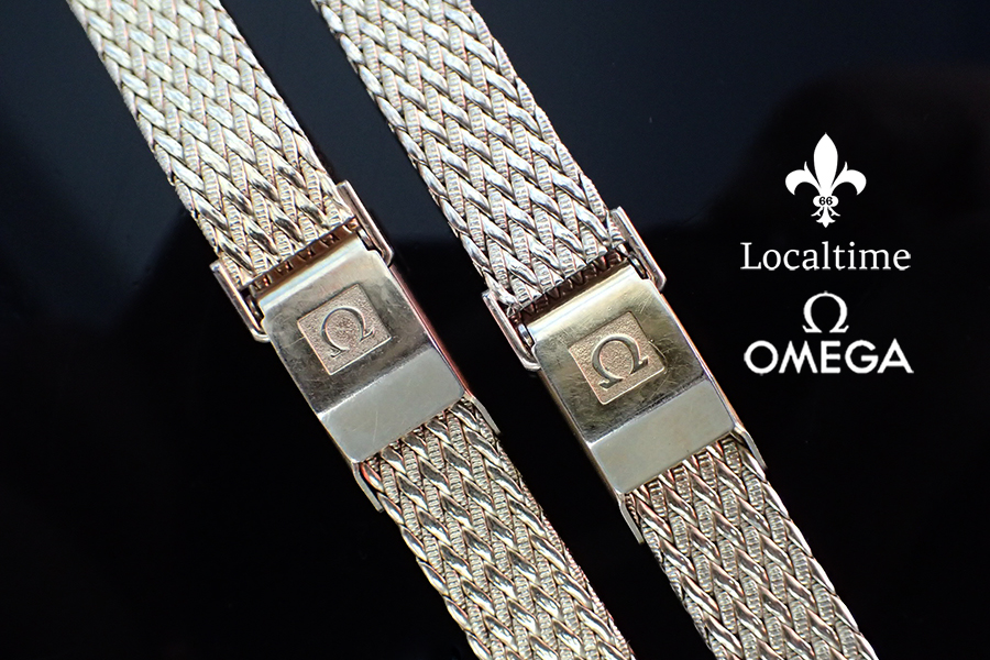 One OMEGA (Swiss) 12mm Gold-Plated Ladies Vintage Watch Mesh Bracelet