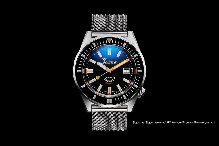 BNIB SQUALE (Swiss) 'Squalematic' Black 60 Atmos Diving Watch – ETA Cal. 2824