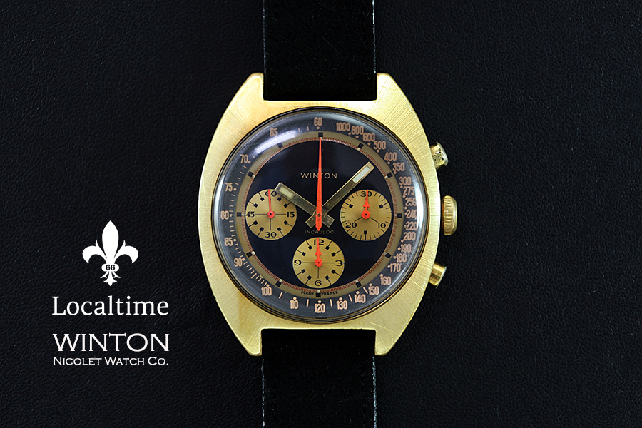 1970'S WINTON (Nicolet Watch Co.) Chronograph Watch With Exotic 'Paul Newman' Dial– Valjoux Cal. 7736