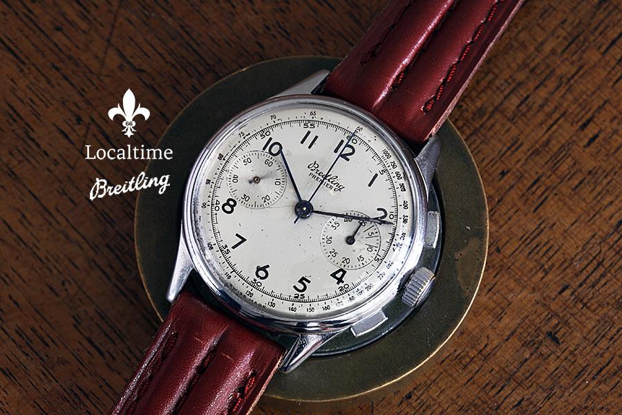 1946 BREITLING Swiss Ref. 760 Vintage Chronograph Watch SN#676814 Venus Cal. 175