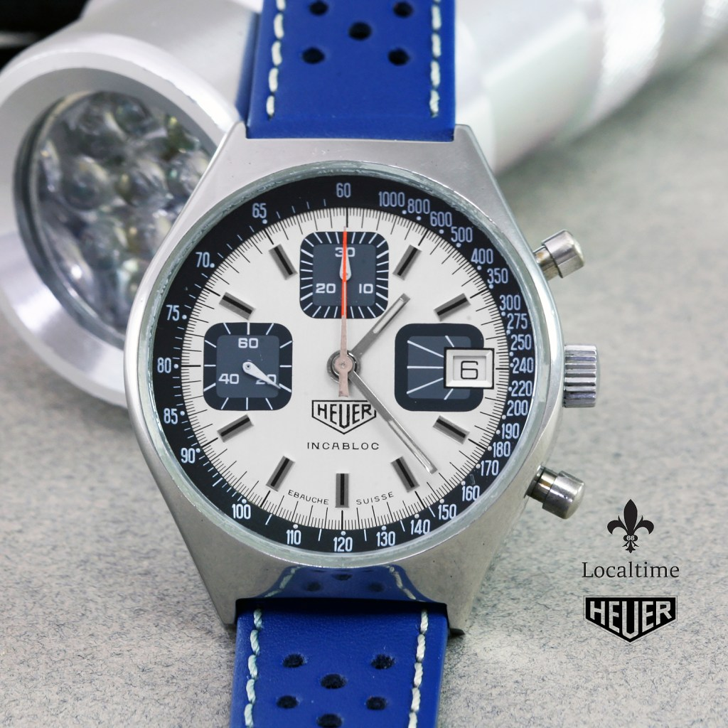 Lovely 1970's HEUER (Swiss) Vintage Racing Chronograph Watch – Valjoux Cal. 7765
