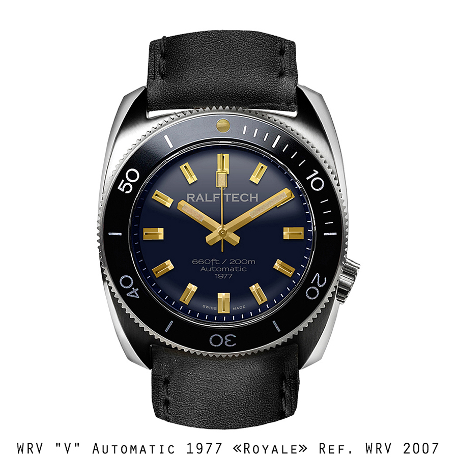 "BNIB RALF TECH (Swiss) WRV ""V"" Automatic 1977 ""ROYALE"" Ref. WRV 2007 Watch RTA Cal. 002"