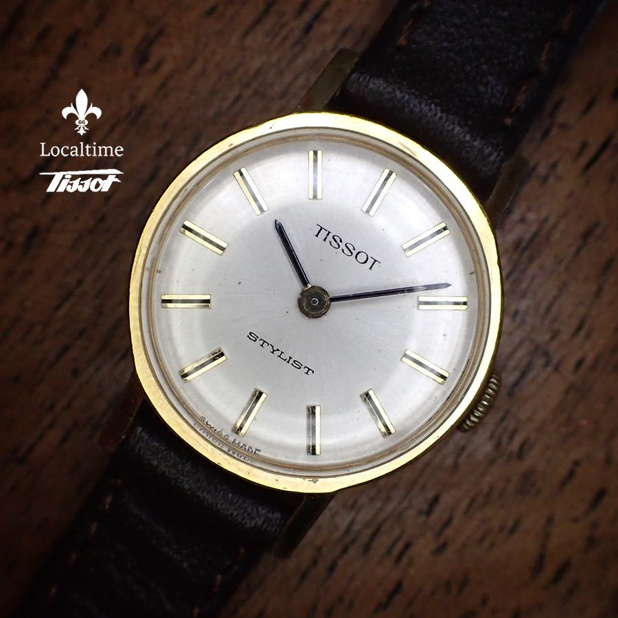 TISSOT (Swiss) 'Stylist' Vintage Dress Gold Plated Ladies Watch Manual New Strap
