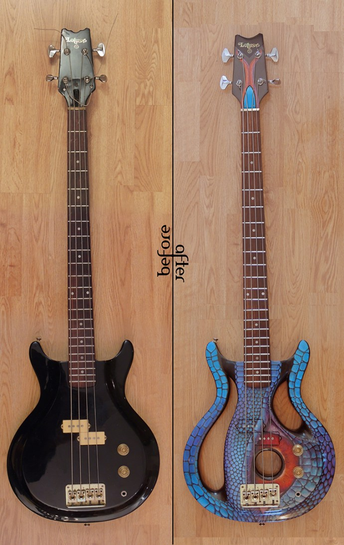 Lotus Bass before and after