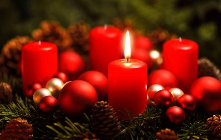 Adventskranz, erster Advent