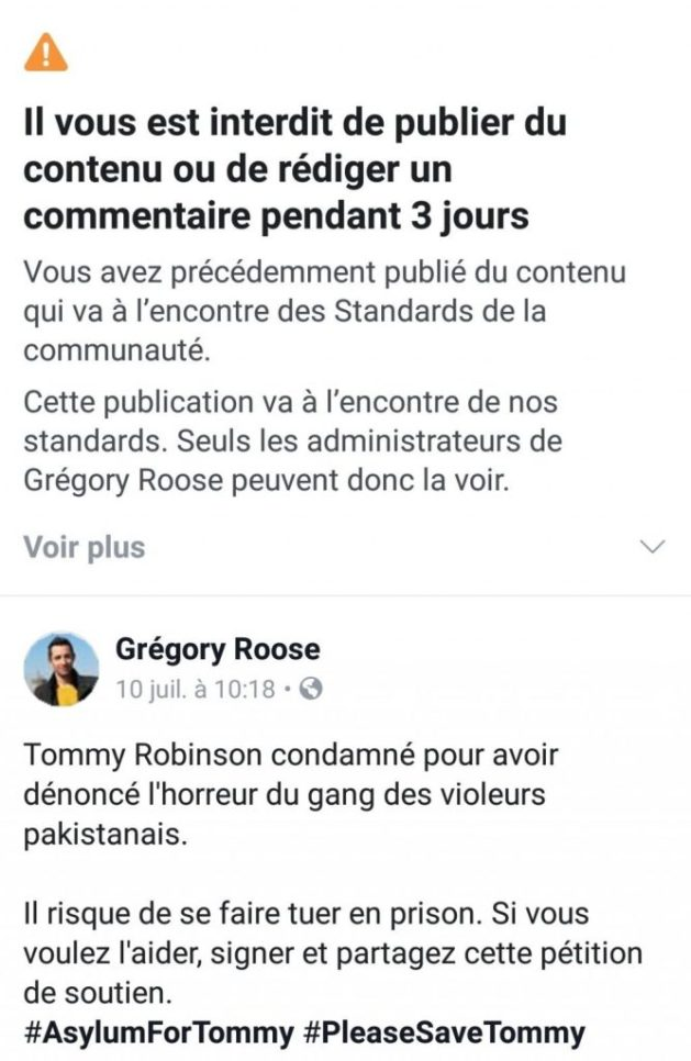 publication censure facebook arbitraire impossible recours appel