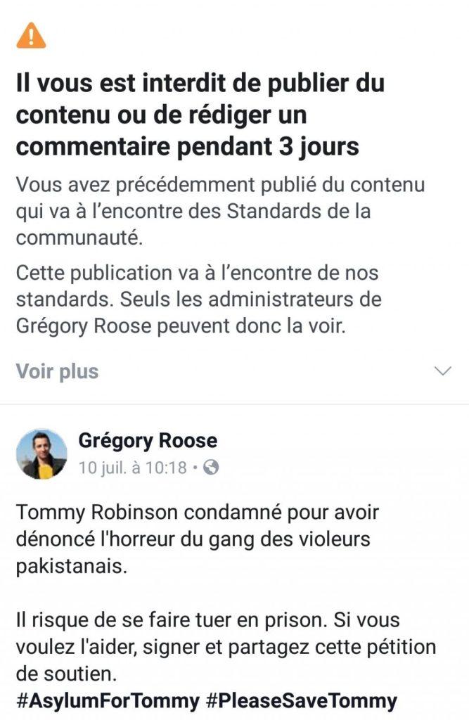 publication censure facebook arbitraire impossible recours appel