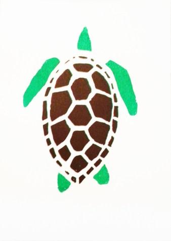 """Turtle"", 2017, Silkscreen Print, 14"" x 10"""
