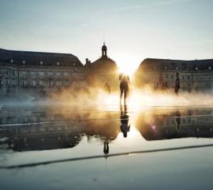 Le miroir d'eau et le soleil