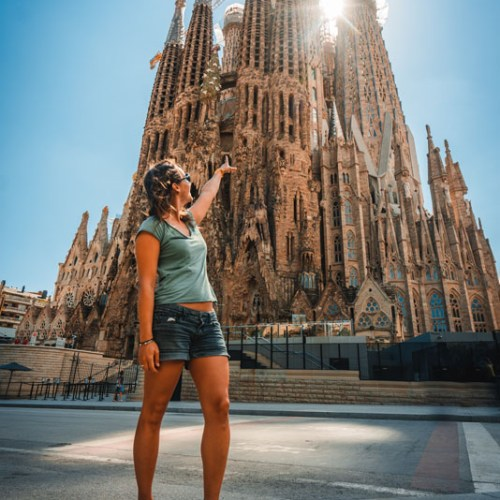 Portrait devant la Sagrada Familia Barcelone