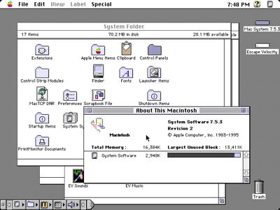 Macintosh System 7 Desktop