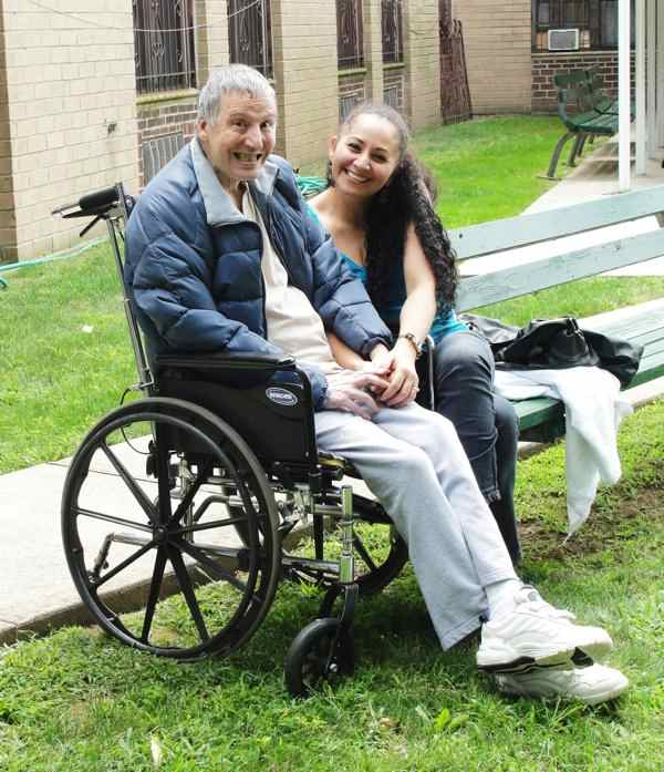 Bill Mantlo and his sister-in-law Liz, August 10, 2013. Courtesy of Bill's brother Mike Mantlo.