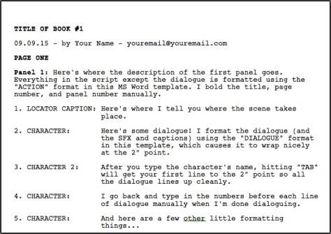 comic-script-template