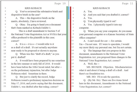 Kobach Deposition_Page 10 and 11