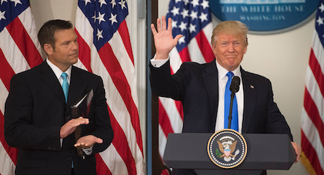 Kris Kobach and President Trump