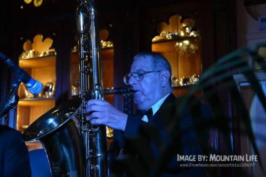 Jim Elliot, bass saxophone, Greg Poppleton and the Bakelite Broadcasters