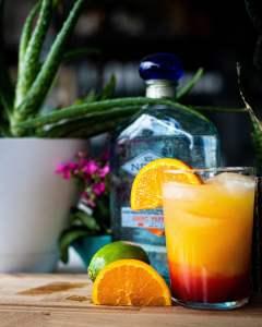 top shelf liquor in a mixed drink