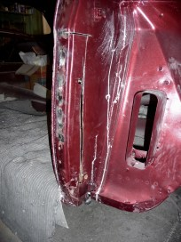 Weld straightened front back on.
