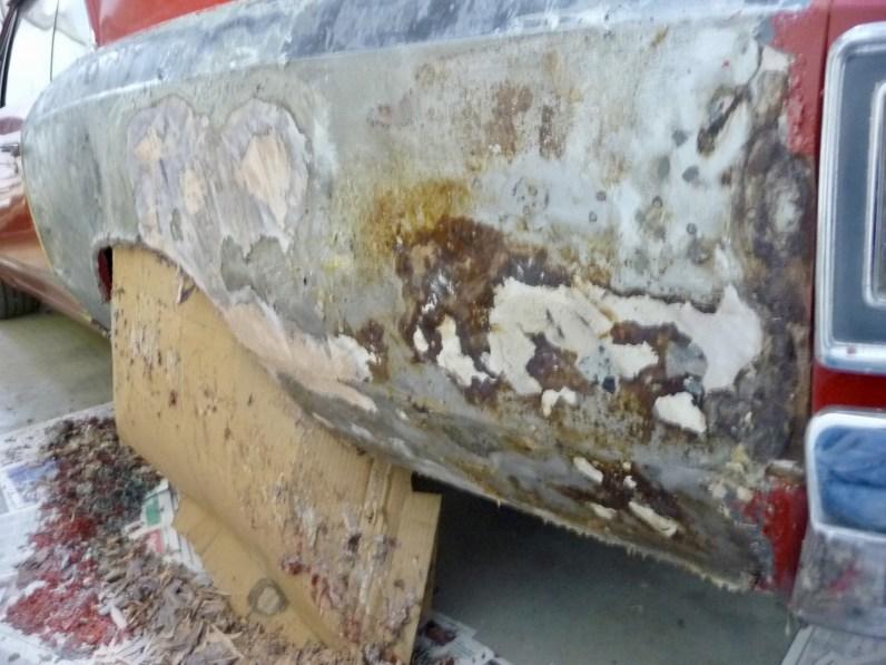 Rust under the plastic
