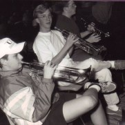 Greg played in the trumpet section for Towson High School's production of A Funny Thing Happened on the Way to the Forum in the fall of 1995. (left to right; Jonathan Miskimon, Greg Small, Jonathan Cresci)