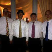 Greg performed on trumpet and piano at the Historic Kent Manor Inn for a wedding ceremony and reception in 2015. (left to right; Adrian Cox [bass], Jim Hannah [drums], Todd Butler [trumpet], Greg Small [trumpet and piano]