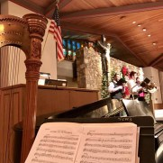 Greg returned to Saint Joseph Roman Catholic Church in 2016 to play trumpet for Christmas Eve Masses along with organist Lynn Trapp, harpist Peggy Houng, and the Saint Joseph Schola.